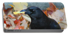 Big Daddy Crow Leaf Picker Portable Battery Charger by Lesa Fine