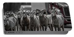 Big Horn Sheep Road Block Portable Battery Charger