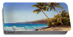 Hawaiian Beach Seascape - Big Island Getaway  Portable Battery Charger
