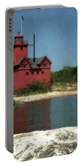 Big Red Holland Michigan Lighthouse Portable Battery Charger