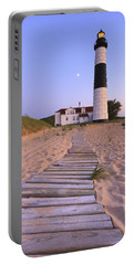Big Sable Point Lighthouse Portable Battery Charger by Adam Romanowicz