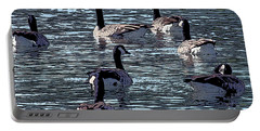 Portable Battery Charger featuring the digital art Big Spring Goose Art I   by Lesa Fine
