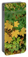 Bigleaf Maple Leaves And Douglas Fir Portable Battery Charger