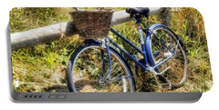 Portable Battery Charger featuring the photograph Bike At Nantucket Beach by Tammy Wetzel