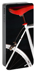 Bike In Black White And Red No 1 Portable Battery Charger