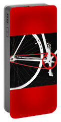 Bike In Black White And Red No 2 Portable Battery Charger