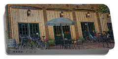 Bike Shop Cafe Katty Trail St Charles Mo Dsc00860 Portable Battery Charger by Greg Kluempers
