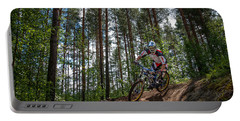 Biker On Trail Portable Battery Charger