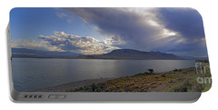 Portable Battery Charger featuring the photograph Bill Cody Reservoir - 25x76 by J L Woody Wooden