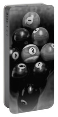 Billiards Art - Your Break - Bw  Portable Battery Charger