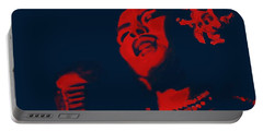 Billie Holiday Portable Battery Charger by Vannetta Ferguson