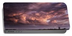 Billowing Clouds Portable Battery Charger by Fran Gallogly