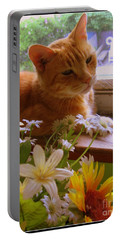 Portable Battery Charger featuring the photograph Billy, My Cat by Dora Sofia Caputo Photographic Art and Design