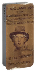 Billy The Kid Wanted Poster Portable Battery Charger