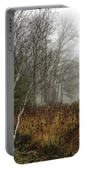 Birch In Winter Portable Battery Charger by Fran Gallogly