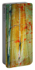 Birch Tree Forest - Left Portable Battery Charger