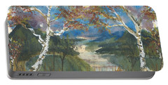 Birch Trees On The Ridge  Portable Battery Charger