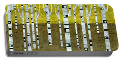 Birches In Fall Portable Battery Charger by Michelle Calkins