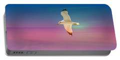 Portable Battery Charger featuring the photograph Bird At Sunset by Athala Carole Bruckner