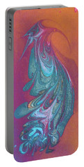 Portable Battery Charger featuring the painting Bird Dance by Mike Breau