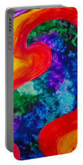 Portable Battery Charger featuring the painting Bird Form I by Michele Myers