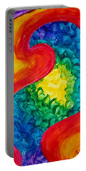 Portable Battery Charger featuring the painting Bird Form II by Michele Myers