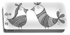 Bird Love Birds Portable Battery Charger