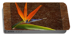 Bird Of Paradise Gold Leaf Portable Battery Charger
