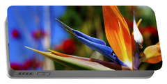 Portable Battery Charger featuring the photograph Bird Of Paradise Open For All To See by Jerry Cowart
