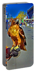 Bird Of Prey At Boat Show 2013 Portable Battery Charger