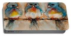 Birds Of A Feather Portable Battery Charger by Jani Freimann