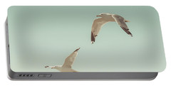 Birds Of A Feather Portable Battery Charger by Lucid Mood