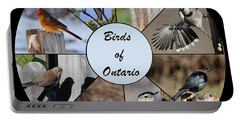 Birds Of Ontario Portable Battery Charger by Davandra Cribbie