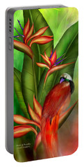 Birds Of Paradise Portable Battery Charger by Carol Cavalaris