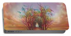 Birds Of Rainbow Mist Portable Battery Charger by Anna Ewa Miarczynska