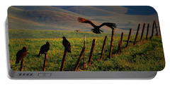Portable Battery Charger featuring the photograph Birds On A Fence by Matt Harang