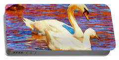 Birds On The Lake Portable Battery Charger