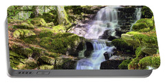 Birks Of Aberfeldy Cascading Waterfall - Scotland Portable Battery Charger by Jason Politte