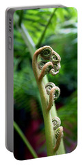 Birth Of A Fern Portable Battery Charger by Debi Demetrion