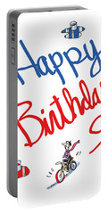 Birthday Bicycle Painter Portable Battery Charger