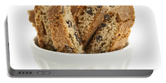 Biscotti Cookies In Bowl Portable Battery Charger