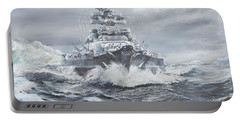 Bismarck Off Greenland Coast  Portable Battery Charger by Vincent Alexander Booth