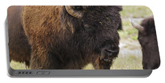 Bison From Yellowstone Portable Battery Charger by Belinda Greb