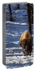 Bison In Winter Portable Battery Charger