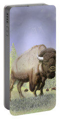 Bison On The Range Portable Battery Charger