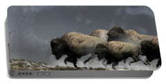 Bison Stampede Portable Battery Charger by Daniel Eskridge