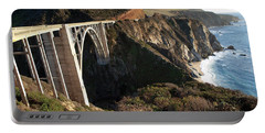 Bixby Bridge Afternoon Portable Battery Charger by Joe Schofield