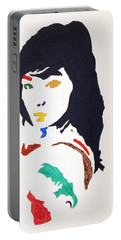 Portable Battery Charger featuring the painting Bjork by Stormm Bradshaw