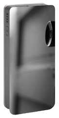Black And White Door Handle Portable Battery Charger by Dan Sproul