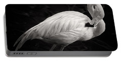 Black And White Flamingo Portable Battery Charger